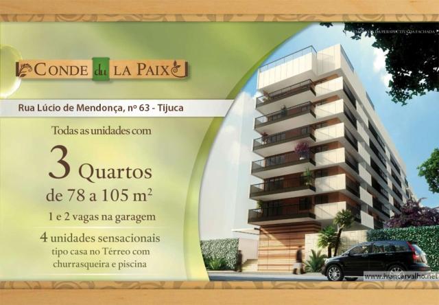 Conde de La Paix | 3 quartos na Tijuca